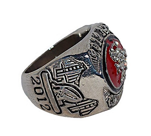 SAN FRANCISCO 49ERS (Colin Kaepernick) 2012 NFC WORLD CHAMPIONS (Super Bowl XLVII) Rare & Collectible Replica National Football League Silver NFL Championship Ring with Cherrywood Display Box