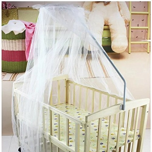 Rainbowkids Baby Nursery Mosquito Net Baby Toddler Bed Crib Canopy Netting Dome Hanging Mosquito Soft & Breathable Kids Bed Crib Netting