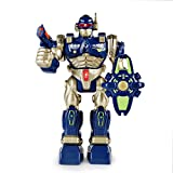 SainSmart Jr. HAP-P-Kid Remote Control Robot, Electronic Robots for Kids Real Walking Robot with Detachable Weapon and Realistic Sounds