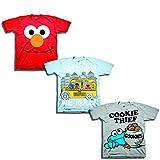 Sesame Street Little Boys' Toddler 3 Pack T-Shirt