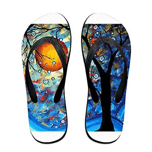 Flops Flip for Kids PTJHKET Abstract Tree Slippers Men Black Women 5TwqZqBvx