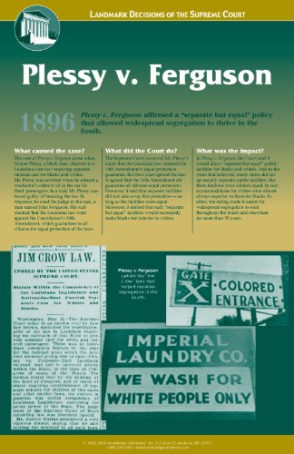 Knowledge Unlimited Inc. Plessy v. Ferguson - Landmark Decisions of the Supreme Court - Poster