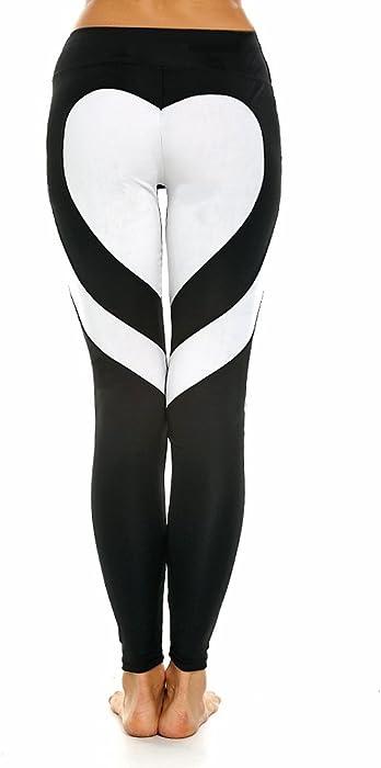 342e20c1c Fittoo Women s Heart Shape Yoga Pants Sport Pants Workout Leggings Sexy  High Waist Trousers