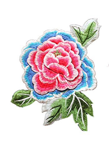 Tianrui Crown 3D Floral Patch Embroidery Patches Motif Trim Sew On Applique Sewing Accessories for Cloth (4pcs) by Tianrui Crown