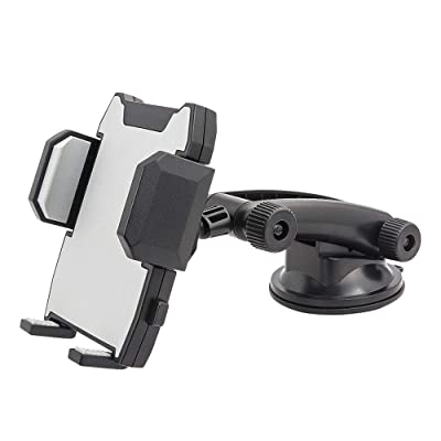 Windshield Dashboard Cell Phone Holder, Kolasels 360 Degree Rotation Car Phone Mount for iPhone 11/11Pro/Xs/Xr/X/8 Plus/8/7/6, Samsung Note 10+/10/9/8/7, HTC, LG and More 3.5-6.5 inch Cell Phones