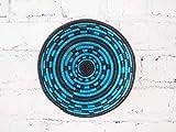 Small African Basket- Nkuli/Rwanda Basket/Woven Bowl/Sisal & Sweetgrass Basket/Blue, Black