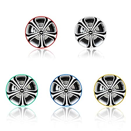 Car-Styling Car Tire Rim Stickers 16 Strips 16-18 Reflective Car-Covers 5 Colors Tape Wheel Tyre Sticker Automobile Decors Krassu
