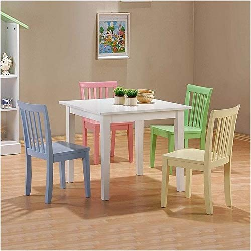 BOWERY HILL 5 Piece Wood Kids Table Set by BOWERY HILL