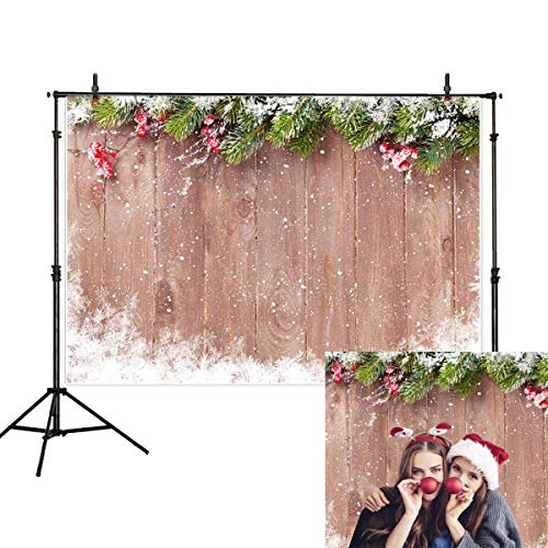 Allenjoy 7x5ft Winter Christmas Backdrop Photography Snowflake Wood Background Christmas Decoration Backdrops for Baby Shower Kid Studio Photo Shoot Prop Photobooth