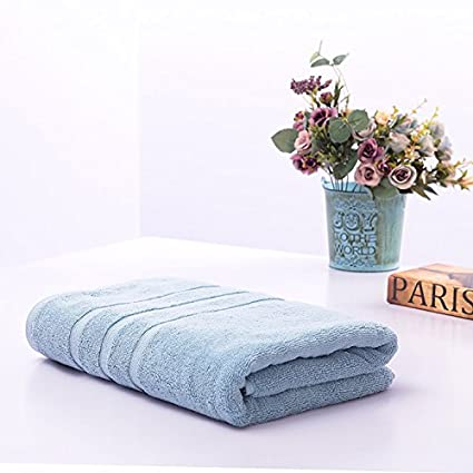 Toallas de algodón puro adultos hombres gruesos de color puro Hotel gran toalla suave de absorción