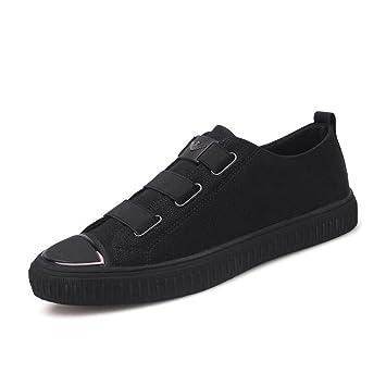 Mocasines de Microfibra de Hombre Zapatos cómodos de Four Seasons Zapatos Deportivos de Ocio/Diarios para Hombres/Zapatos para Caminar (Color : Negro, ...
