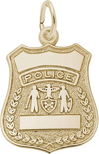 - Rembrandt Police Badge Charm - Metal - 14K Yellow Gold