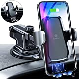 andobil Wireless Car Charger Mount, Auto Clamping 10W/7.5W Qi Fast Charging Car Mount Air Vent Dashboard Windshield Phone Holder Compatible iPhone Xs Max/Xs/XR/X/8+/8, Samsung S10+/S10/S9+/S9/S8+/S8