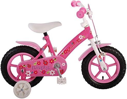 Bicicleta niña de 16 pulgadas Ruedas Extraíbles Rosa: Amazon.es ...