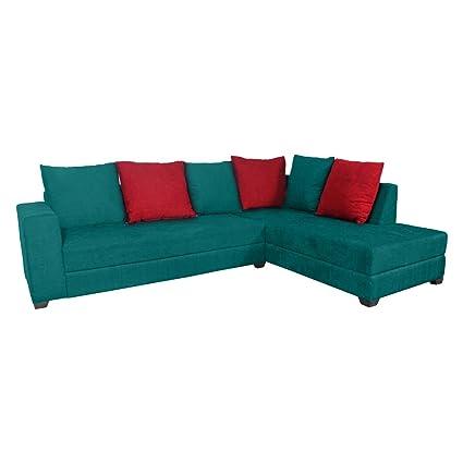 Alexander Sea Green L Shape Sofa Set Amazon In Home Kitchen