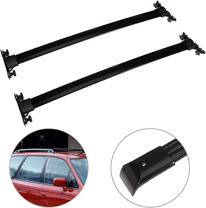 AUTOMUTO Cross Bars fit for Nissan Pathfinder 2005 2006 2007 2008 2009 2010 2011 2012 Aluminum Black Kayak Roof Rack Roof Top Bar Luggage Carrier
