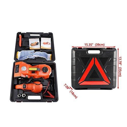 alavente-3-ton-6600lb-12v-electric-hydraulic-floor-jack-with-led-flashlight-3-in-1-set-car-repair-tool-kit