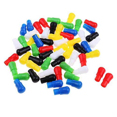 (MagiDeal 60pcs 23mm Mixed Color Replacement Plastic Pegs for Traditional Family Game Hexagon Wooden Chinese Checkers)