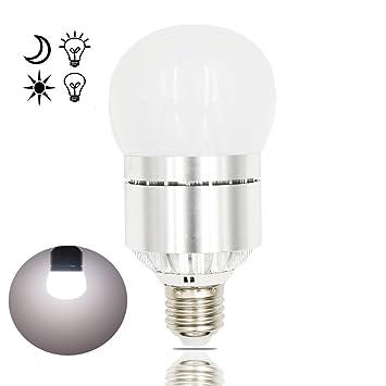 Bonlux 12W E27 1200lm LED Sensor de Encendido y Apagado Bombilla De Luz Fría 6000k Con