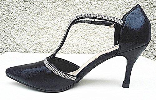fashionfolie - Zapatos de Vestir de Material Sintético Mujer