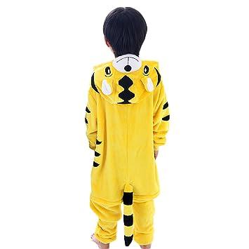 LSERVER-Pijama de los Niños Cosplay Traje Conjunto Franela Diseño de Dibujos Animados Tigre XX