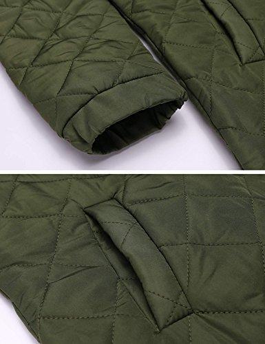D'hiver Matelassée Kaki Poche Bomber Jacket De Veste Zeagoo Femme qE8gp