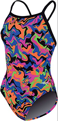 Dolfin Swimwear Winners V-2 Back Prints - Multi Nitro, 26