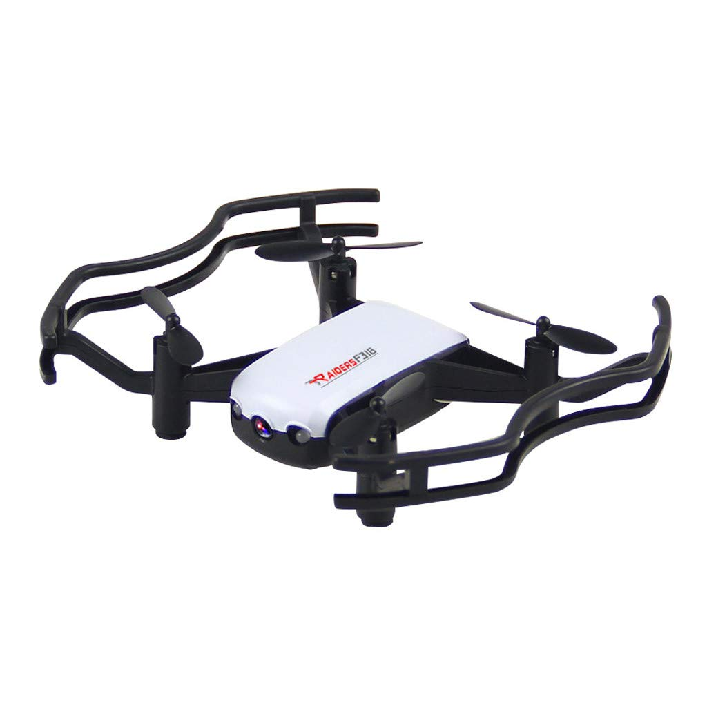 Hisoul F31G RC Quadcopter Drone - 5G 4CH 2MP HD Camera APP Control Optical Flow Auto Follows RC Drone Selfie Quadcopter, for Flying Enthusiast (♥ White)