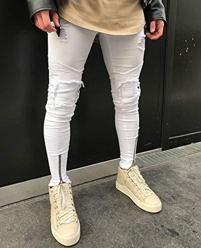 Alti Comodi Moderna Uomo Casual Ssig Morbidi Slim Elastici Blue Pantaloni Jeans Fit Dritti Cotton Fashion J Da 06nBxnvp