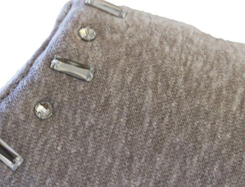 Isotoner Womens Sweatshirt Fleece Zadie Hoodback Slipper Ash xagYUggrdv