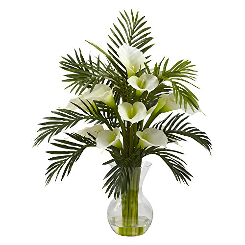 Nearly-Natural-Calla-Lily-and-Areca-Palm-Silk-Flower