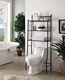 Moon_Daughter Black Metal 3-shelf Rack Over the Toilet Bathroom Space Saver Storage Organizer 64'' Height