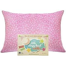 "Little Sleepy Head Toddler Pillowcase - Cuddle Collection (alphabet Pink), 13"" X 18"""