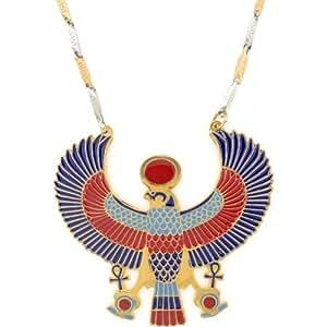 Amazon.com: Egyptian Jewelry Horus Pendant with Chain: Jewelry