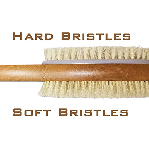 Body Scrubber With Extra Long Handle Double Sided Bamboo
