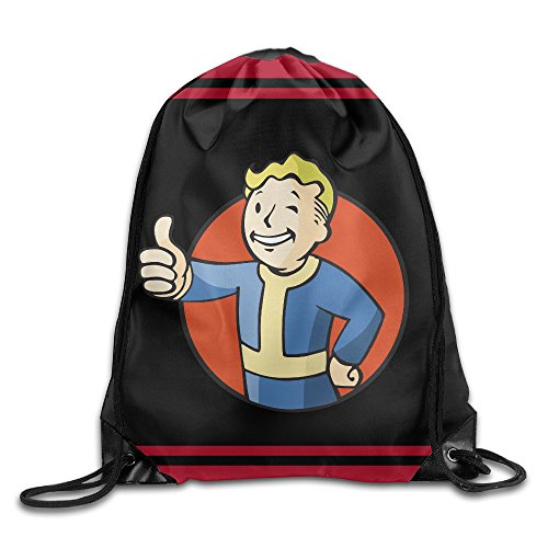 [Acosoy Fallout Vault Boy Drawstring Backpacks/Bags] (Victorias Secret Costume Ideas)