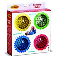 Bolas sensoriales Edushape See-Me, 4 pulgadas, traslúcidas, juego de 4 bolas