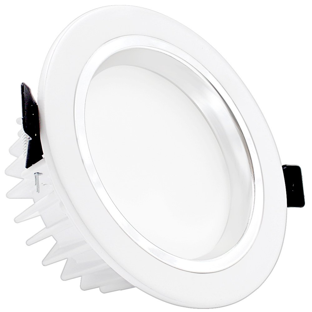 """90W Halogen Equiv. Slim LED Downlight with Reflector trim Frosted Glass Lens Ceiling Light for New Construction and Remodel 3000K Warm White 4/"""" Dimmable LED Retrofit Recessed Light 12W"""