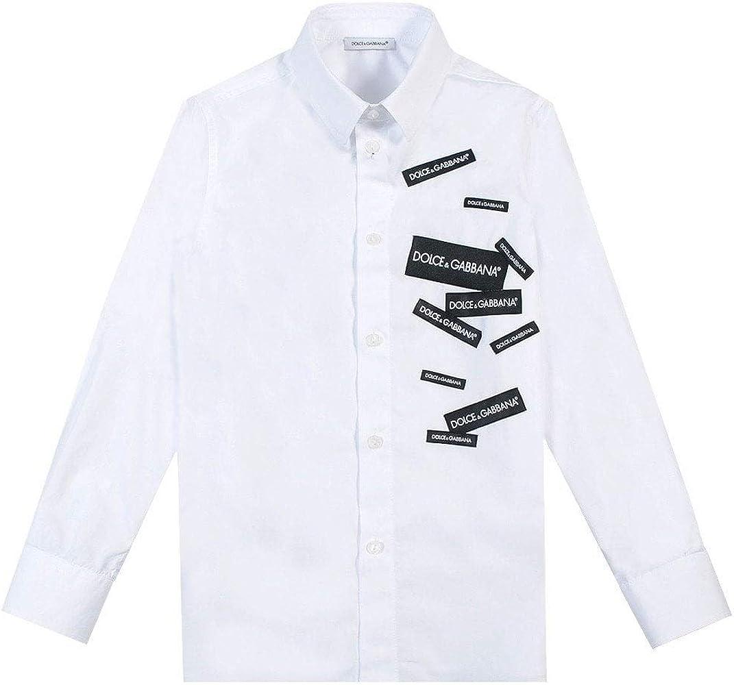 Dolce & Gabbana niños etiquetado Camisa Blanca-Regular Fit: Amazon.es: Ropa y accesorios