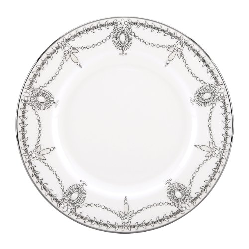 Lenox Marchesa Couture Salad Plate, Empire Pearl (Pearl Beaded Plate)