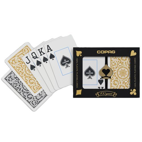 Copag Bridge Size Jumbo Index 1546 Playing Cards (Black Gold Setup)