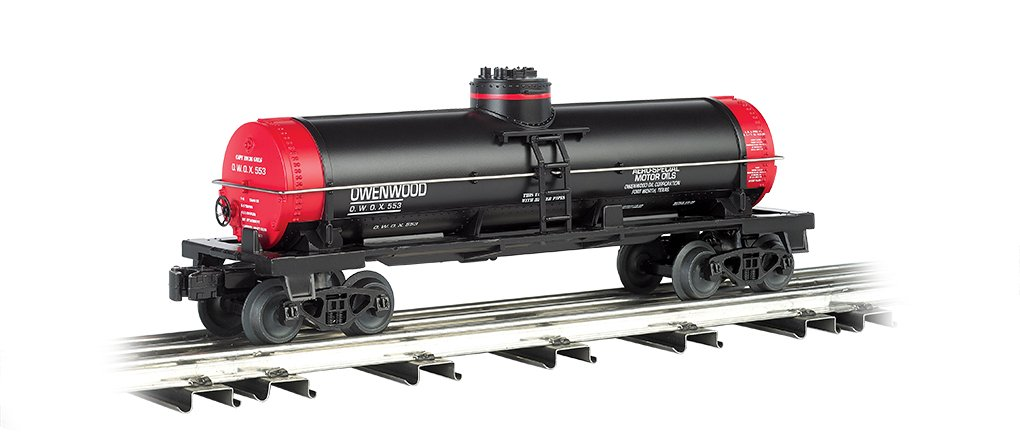 Williams by Bachmann Single-Dome Tank Car Owenwood Motor Oil - O Scale