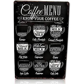 Amazon Com Save Directly Coffee Menu Bar Metal Sign Perfect For