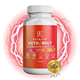 Ketality Keto Bolt Exogenous Ketones Supplement BHB 800 mg for Higher Ketone Levels, Fat Burning, Energy Boosting & Weight Loss | Keto Diet & Carb Blocker for Speeding up Ketosis | 60 Capsules |