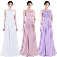 Women's Vintage Floral Lace 3/4 Sleeves Floor Length Retro Evening Cocktail Formal Bridesmaid Gown Long Maxi Dress