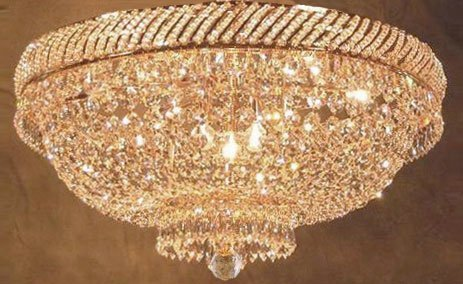 Basket Semi Flush - French Empire Crystal Semi Flush Basket Chandelier Chandeliers Lighting H18