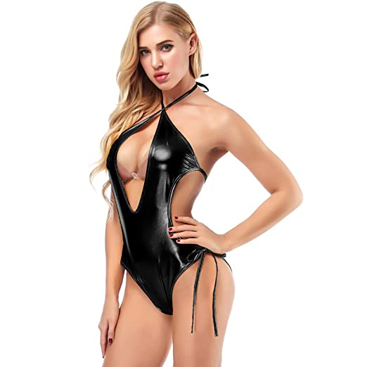 Luggage & Bags Sexy Latex Catsuit High Cut Swimsuit High Neck Halter Bodysuit One Piece Swimwear Body Catsuit Sexy Night Club Dance Wear Making Things Convenient For Customers