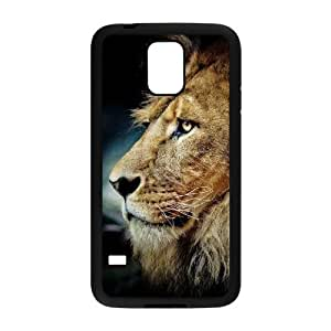 Diy Lion Animal Phone Case for samsung galaxy s5 Black Shell Phone JFLIFE(TM) [Pattern-2] Kimberly Kurzendoerfer