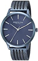 Kenneth Cole New York Men's Quartz Stainless Steel Casual Watch, Color:Black (Model: KC15111017)