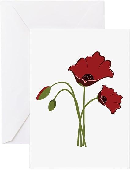 Coquelicots carte de vœux